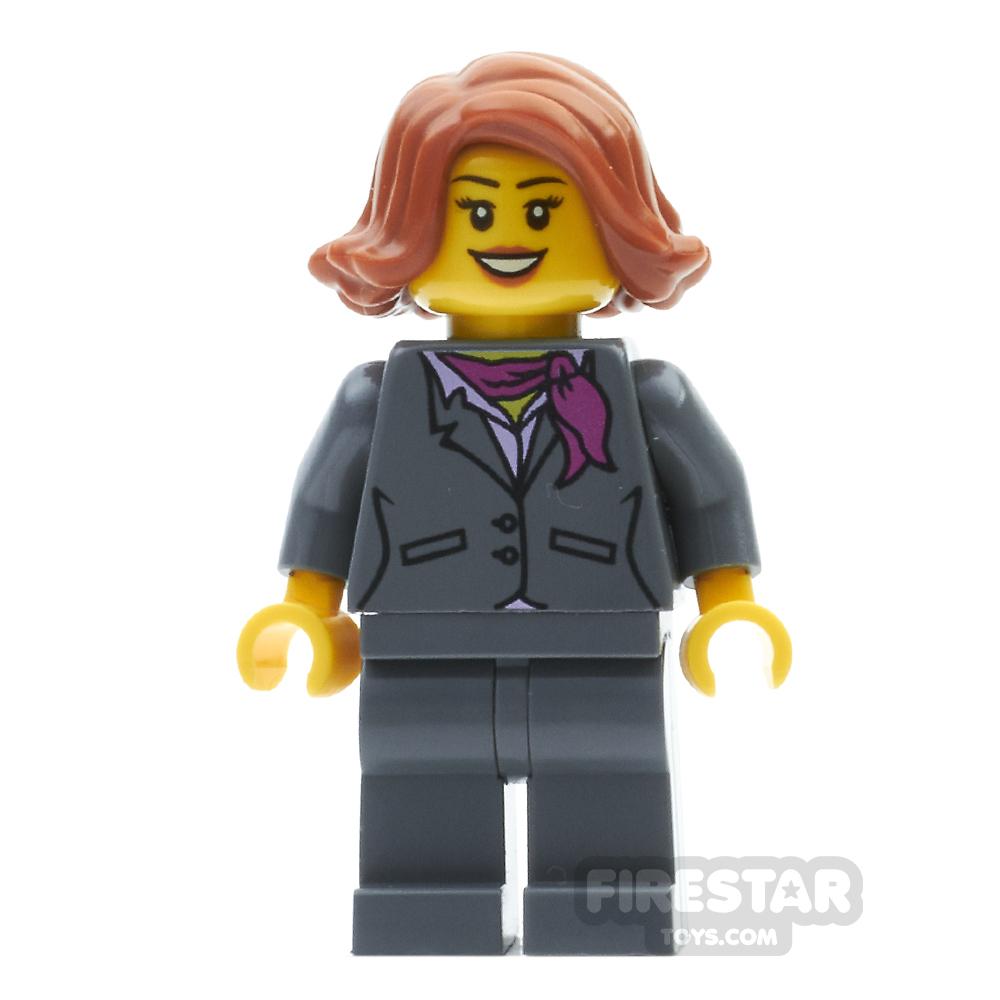LEGO City Mini Figure - Ferry Passenger with Gray Jacket