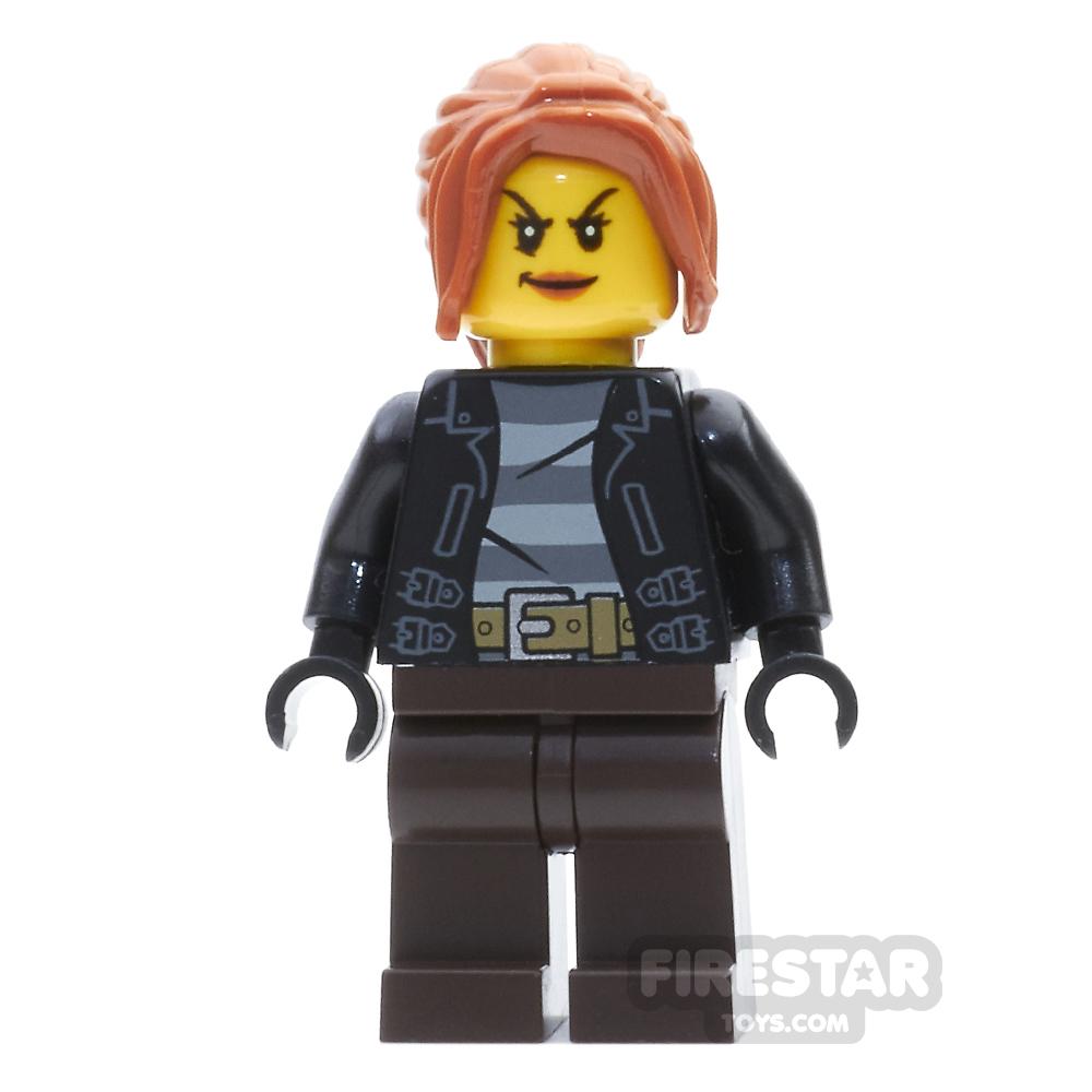 LEGO City Mini Figure - Female Bandit - Dark Orange Hair