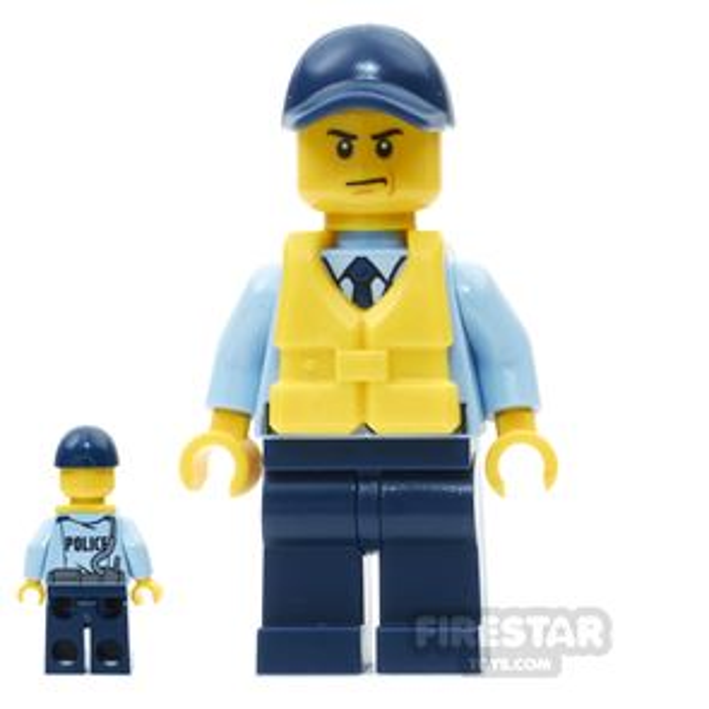 LEGO City Mini Figure - City Officer, Life Preserver, Scowl