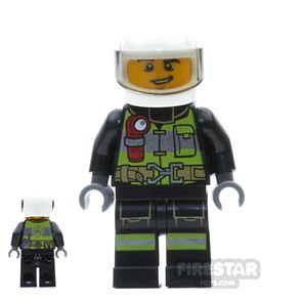 LEGO City Mini Figure - Fireman - Utility Belt and Flashlight