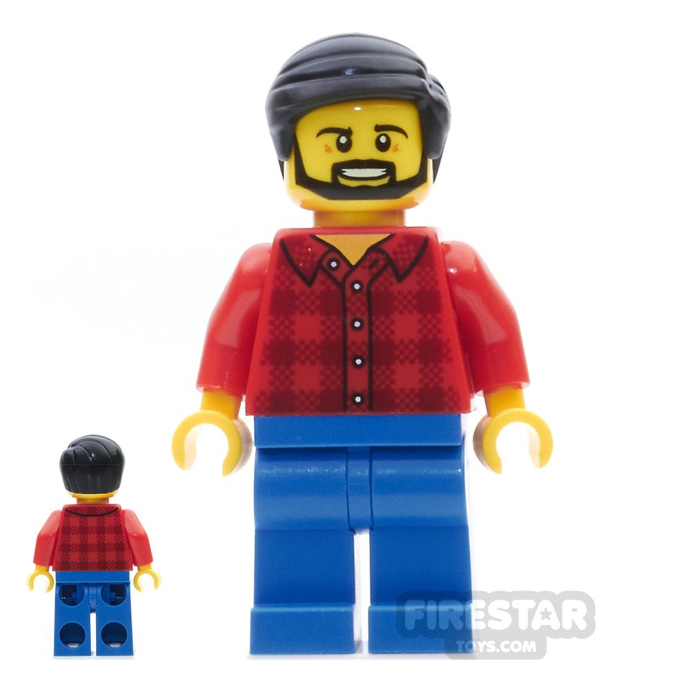 LEGO City Mini Figure - Dad, Flannel Shirt