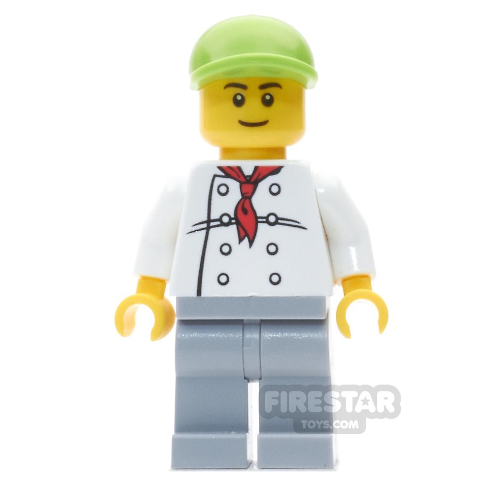 LEGO City Mini Figure - Fire Station Hot Dog Vendor