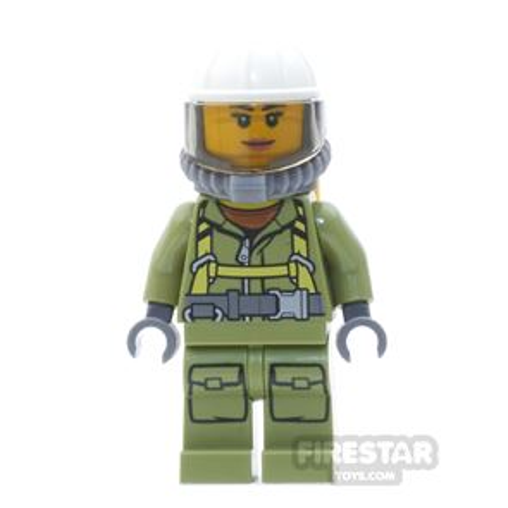 LEGO City Mini Figure - Volcano Explorer - Female, with Harness