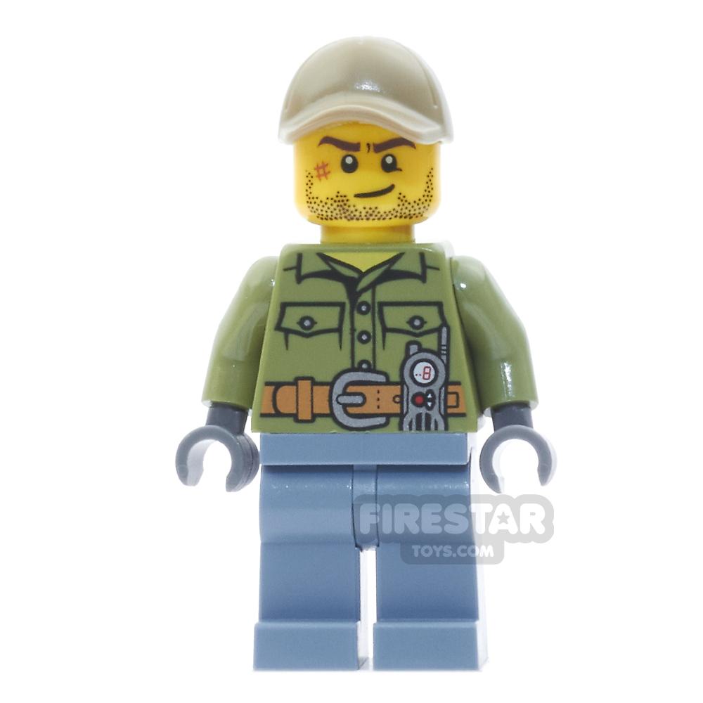 LEGO City Mini Figure - Volcano Explorer - Stubble and Cap