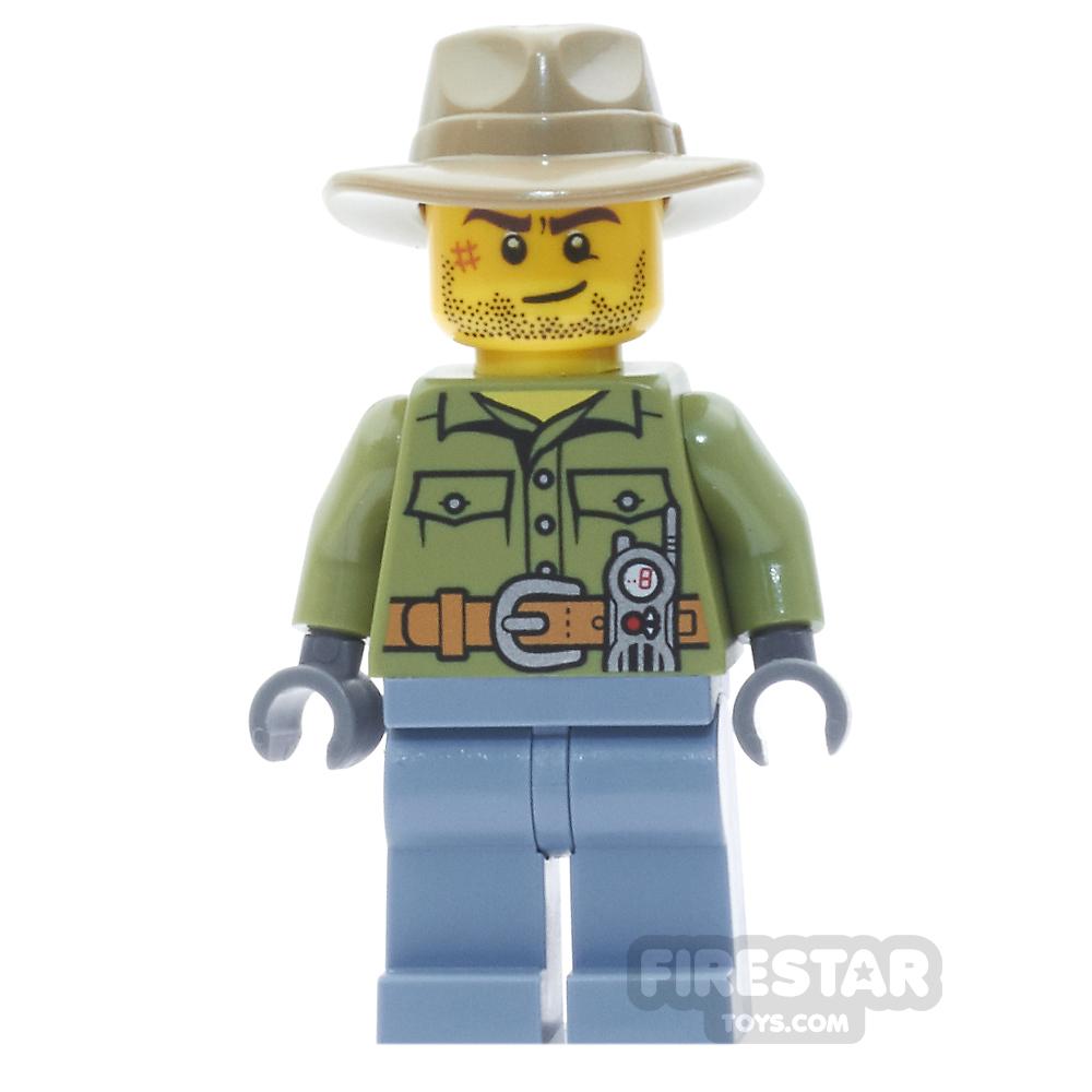 LEGO City Mini Figure - Volcano Explorer - Stubble and Tan Fedora