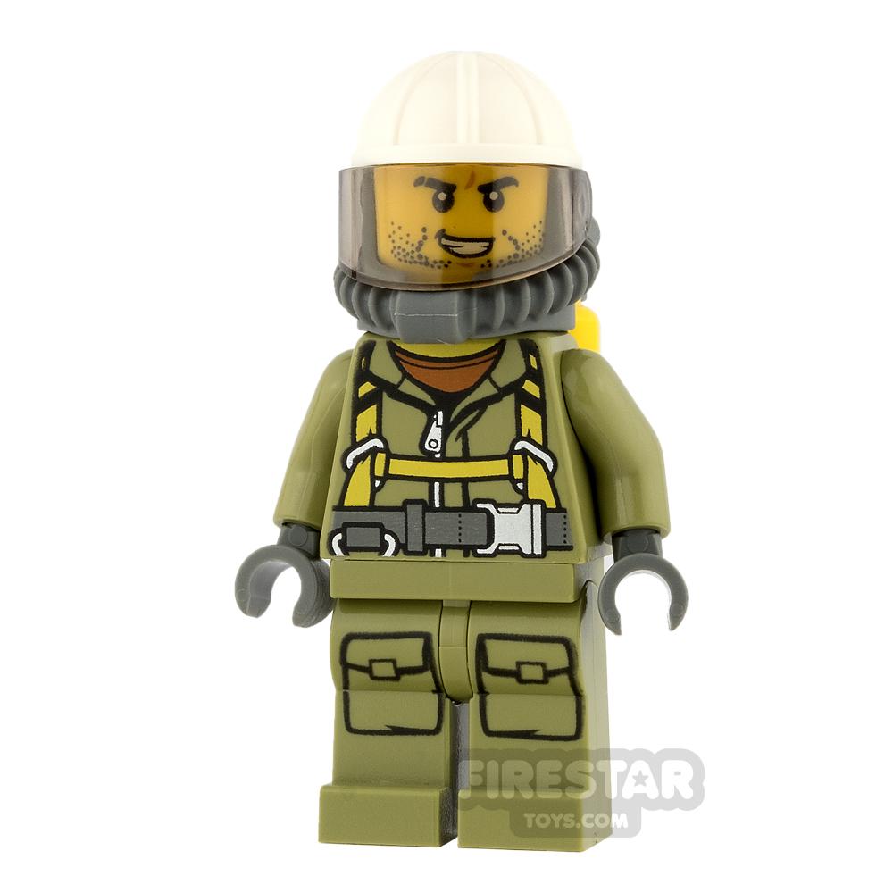 LEGO City Mini Figure - Volcano Explorer - Male, with Stubble