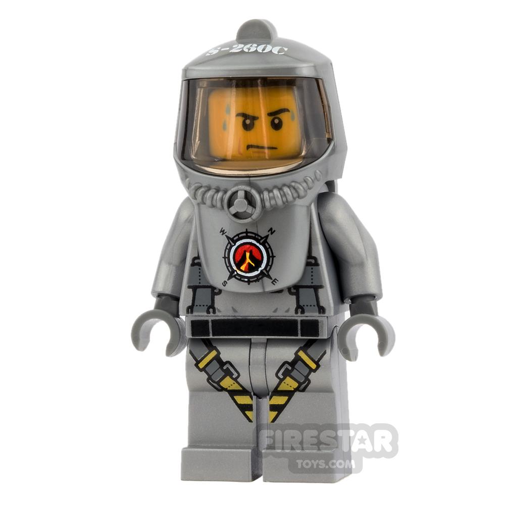 LEGO City Mini Figure - Volcano Explorer - Male Scientist with Heatsuit