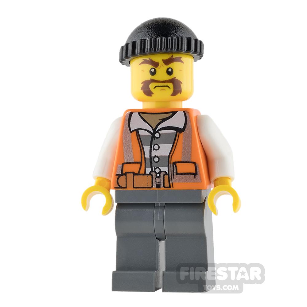 LEGO City Mini Figure - Bandit - Handlebar Moustache