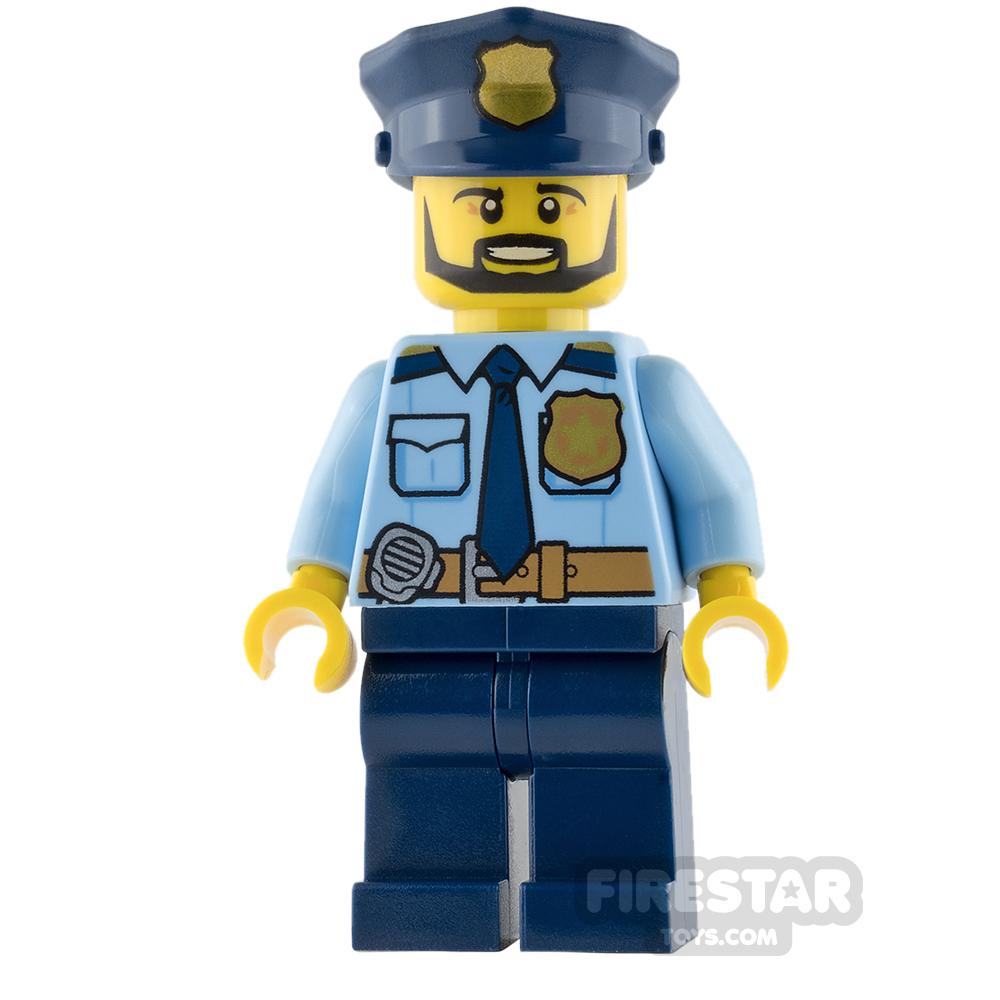 LEGO City Mini Figure - Police - Gold Badge and Black Beard