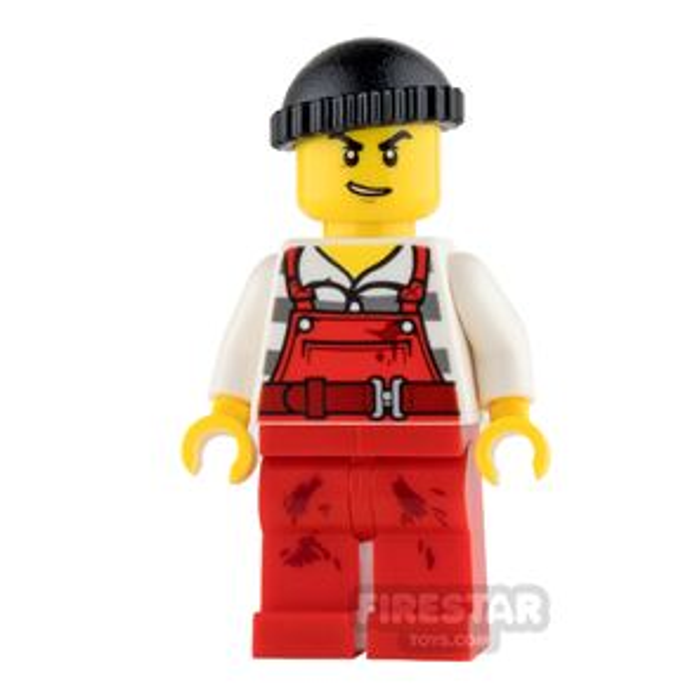 LEGO City Mini Figure - Bandit - Red Overalls
