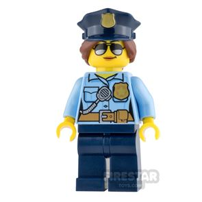 LEGO City Mini Figure - Police - City Officer Female with Police Hat