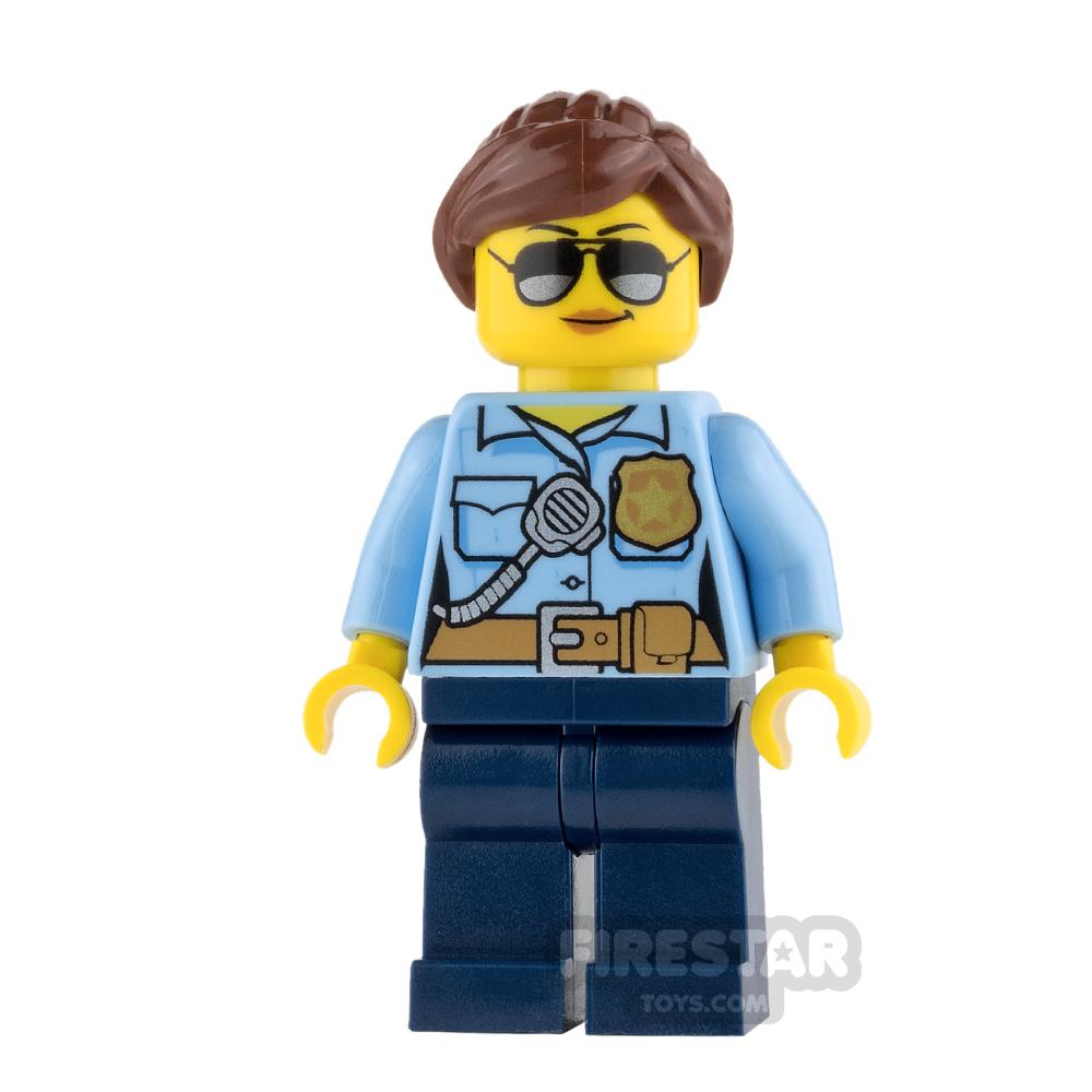 LEGO City Mini Figure - Police - City Officer Female with Sunglasses