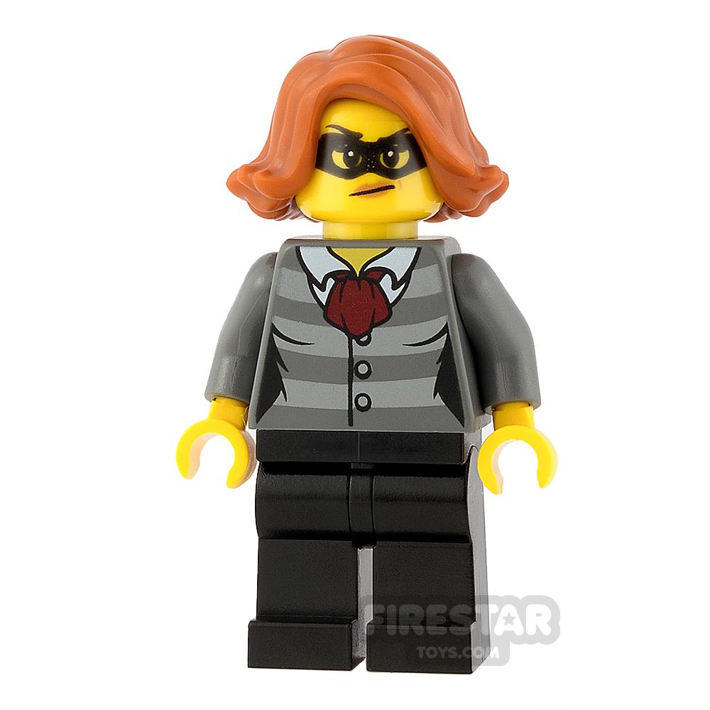 LEGO City Mini Figure - Female Bandit - Black Eye Mask