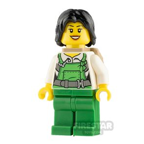 LEGO City Minifigure Bandit with Green Overalls