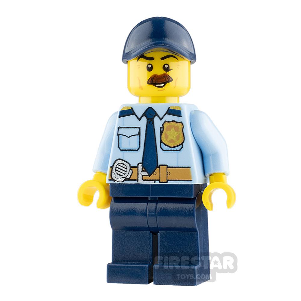 LEGO City Minifigure Policeman with Bushy Moustache