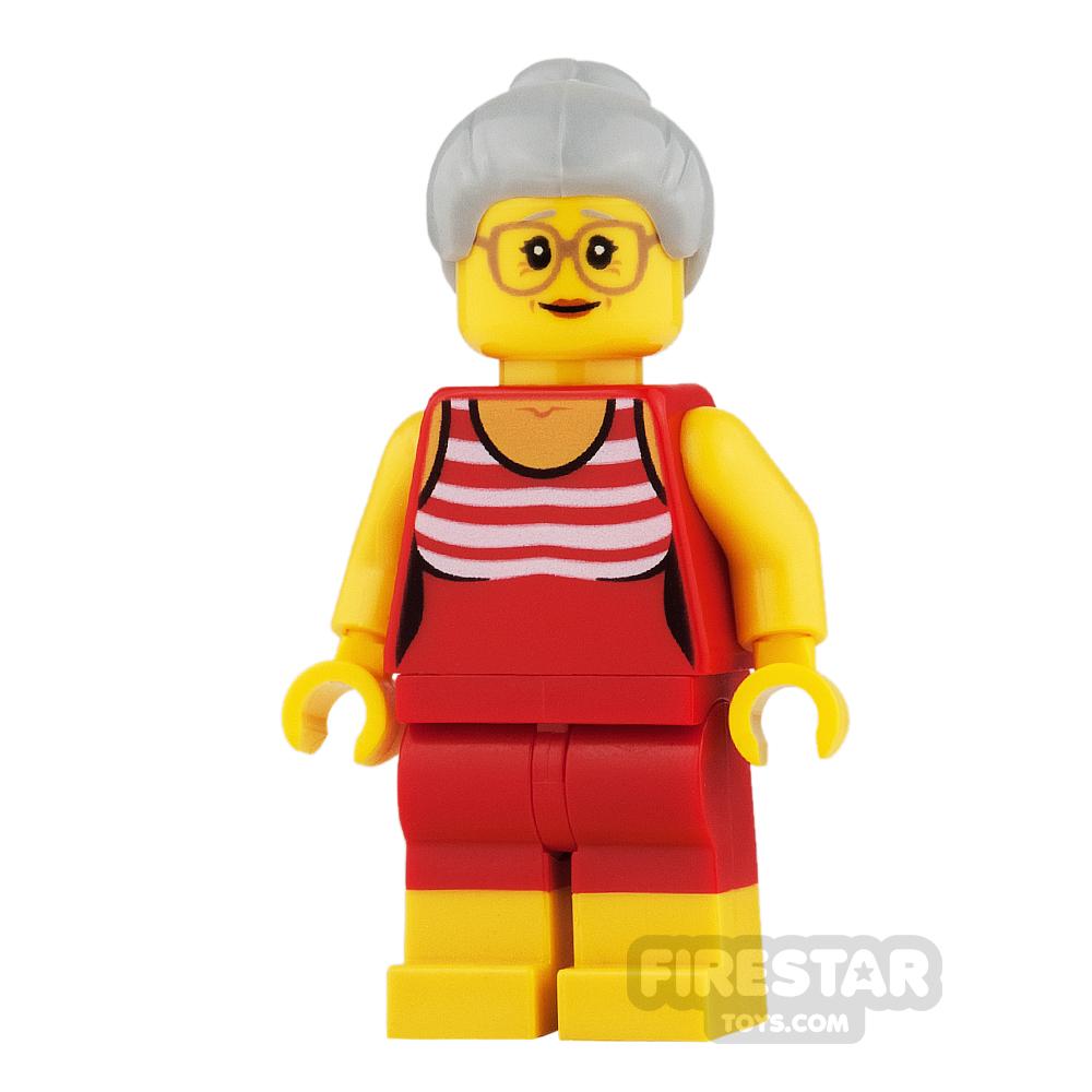 LEGO City Mini Figure - Striped Swimsuit and Shorts