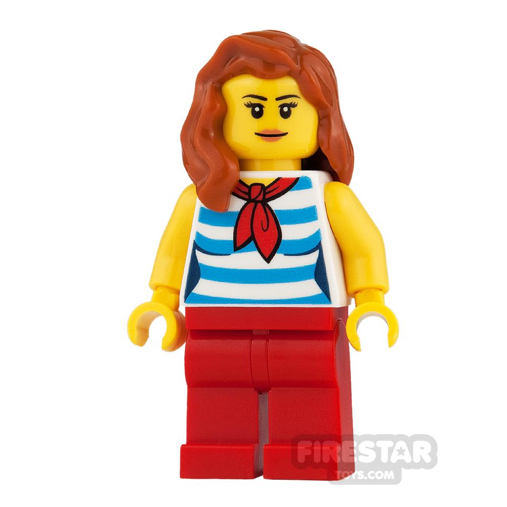 LEGO City Mini Figure - Striped Top and Scarf