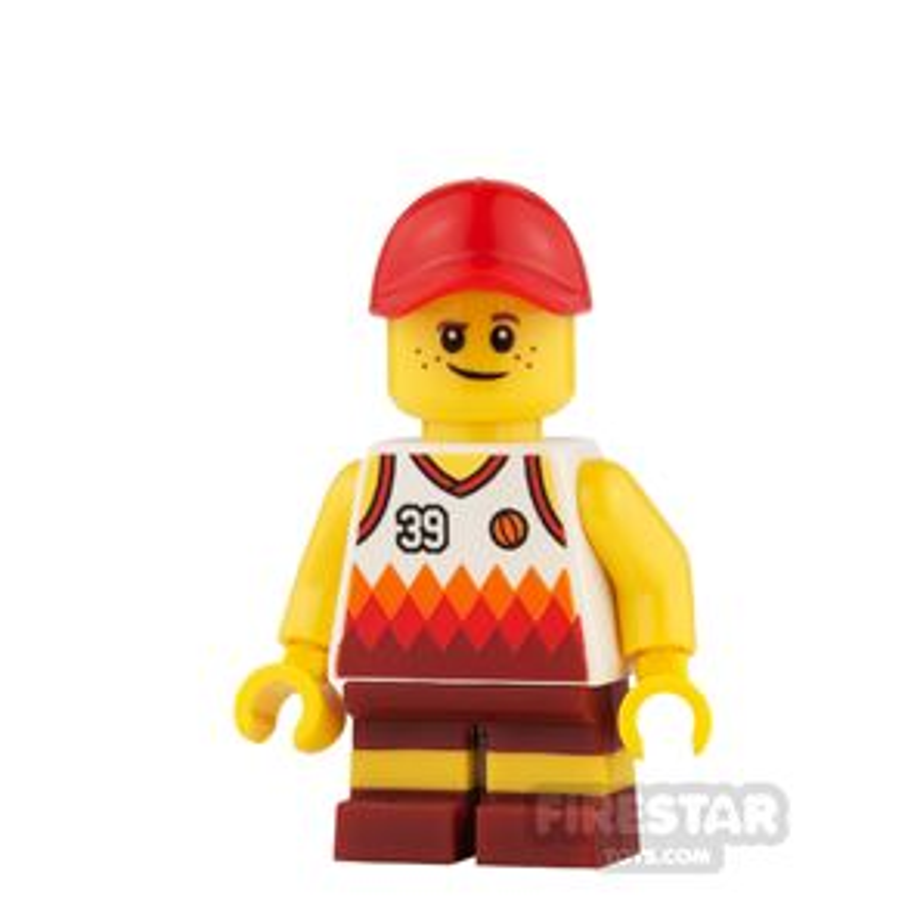 LEGO City Mini Figure - Basketball Top and Short Legs