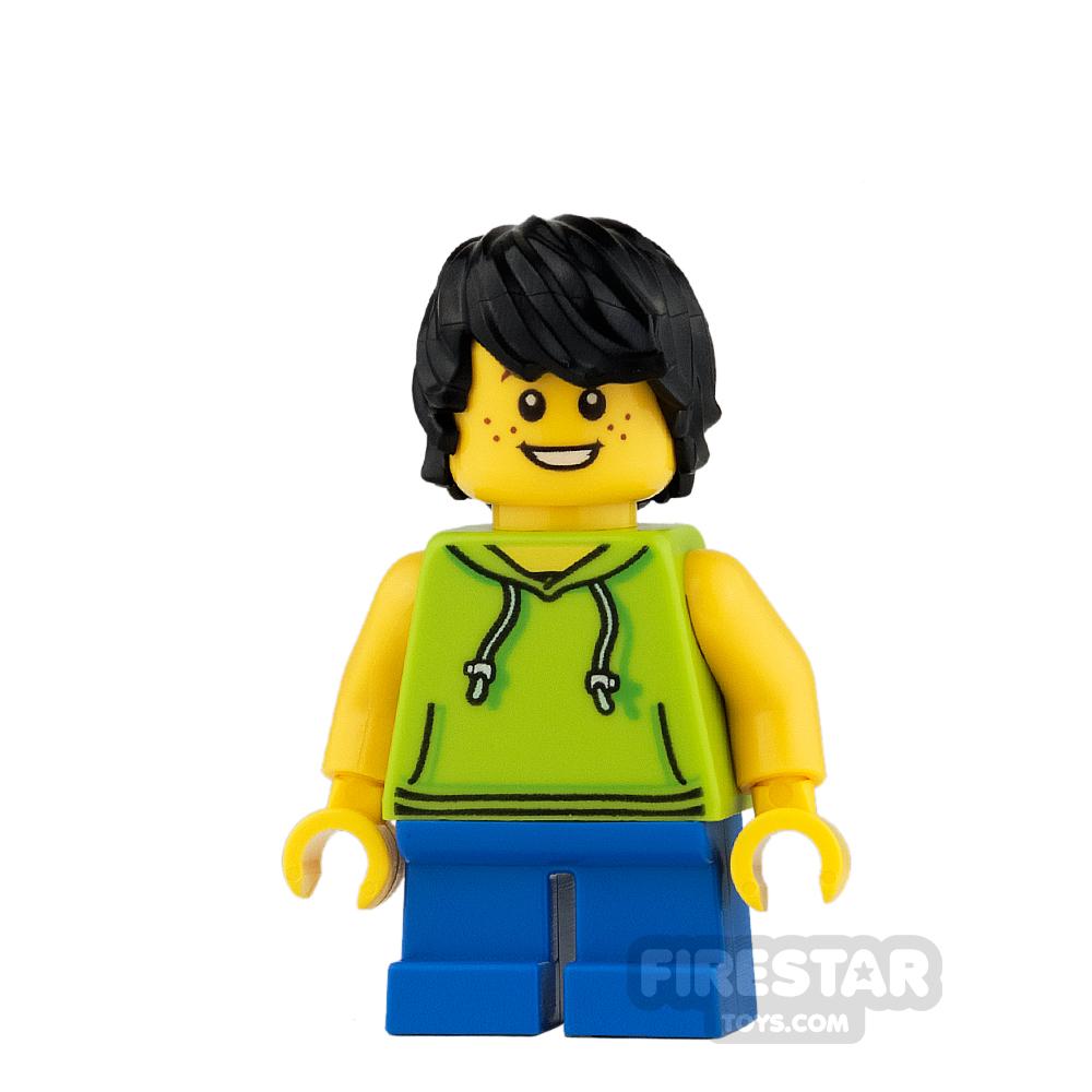LEGO City Mini Figure - Lime Sleeveless Hoodie and Short Legs