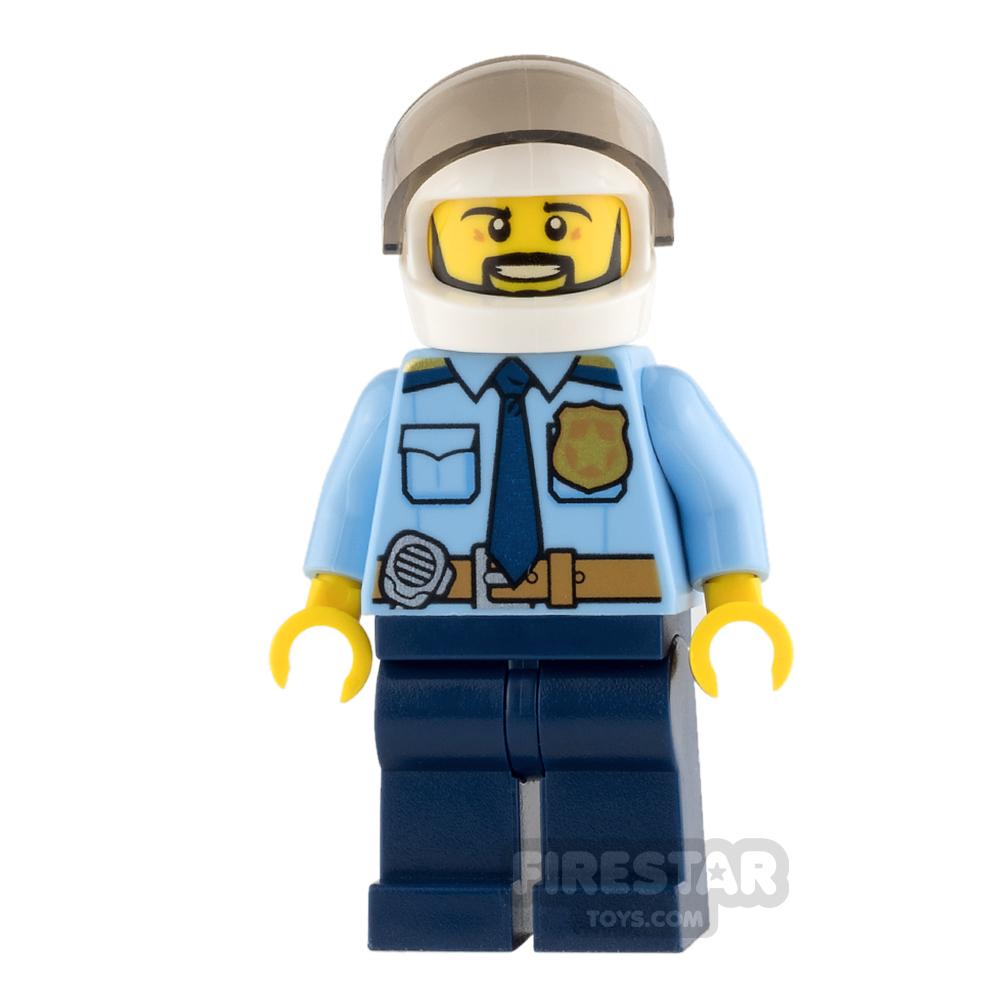 LEGO City Mini Figure - Police - City Officer with Black Beard