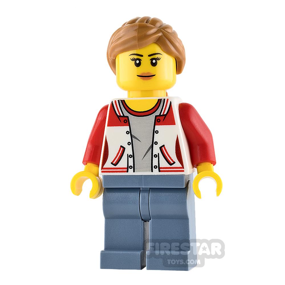 LEGO City Mini Figure - Bus Passenger - Female with Sports Jacket