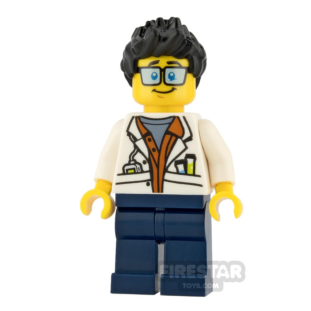 LEGO City Mini Figure - Jungle Scientist - Black Spiked Hair