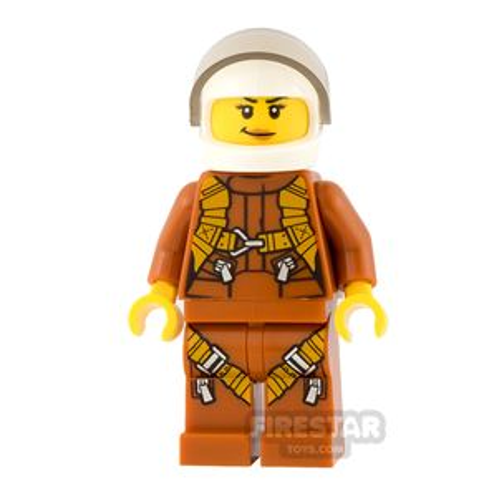 LEGO City Mini Figure - Jungle Explorer - Helicopter Pilot with Harness