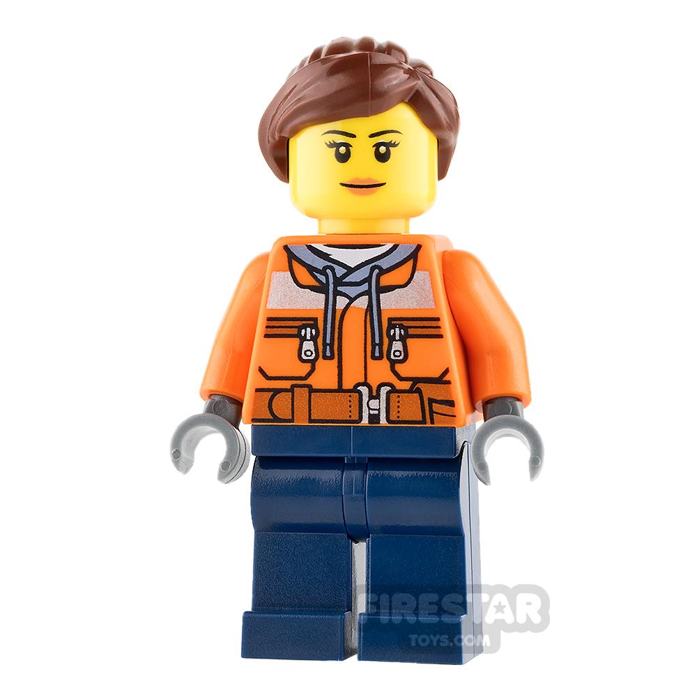 LEGO City Mini Figure - Cargo Center Worker - Female with Peach Lips