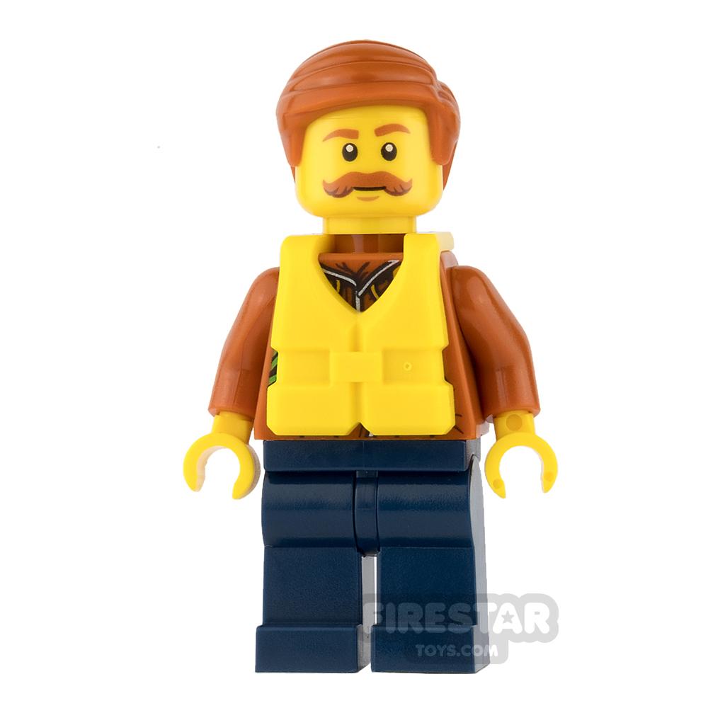 LEGO City Minifigure Jungle Explorer Life Jacket and Moustache