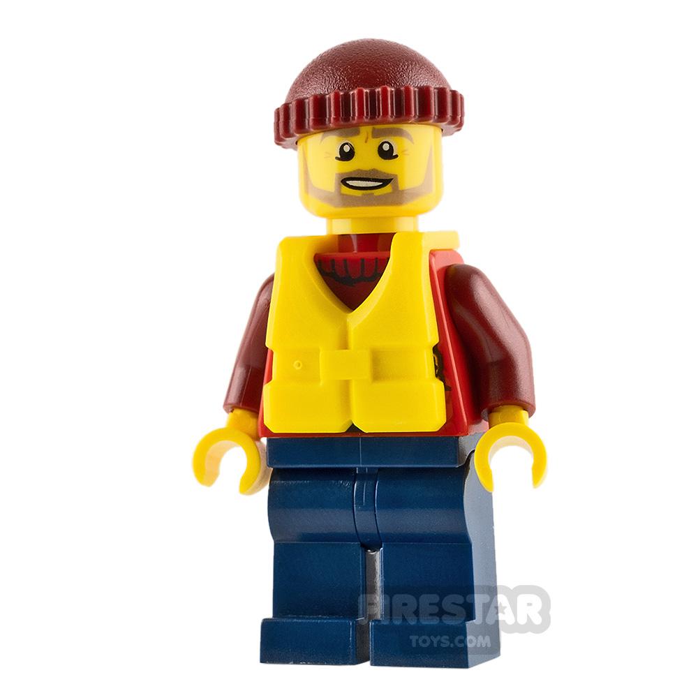 LEGO City Mini Figure - City Coast Guard - Lifeboat Passenger
