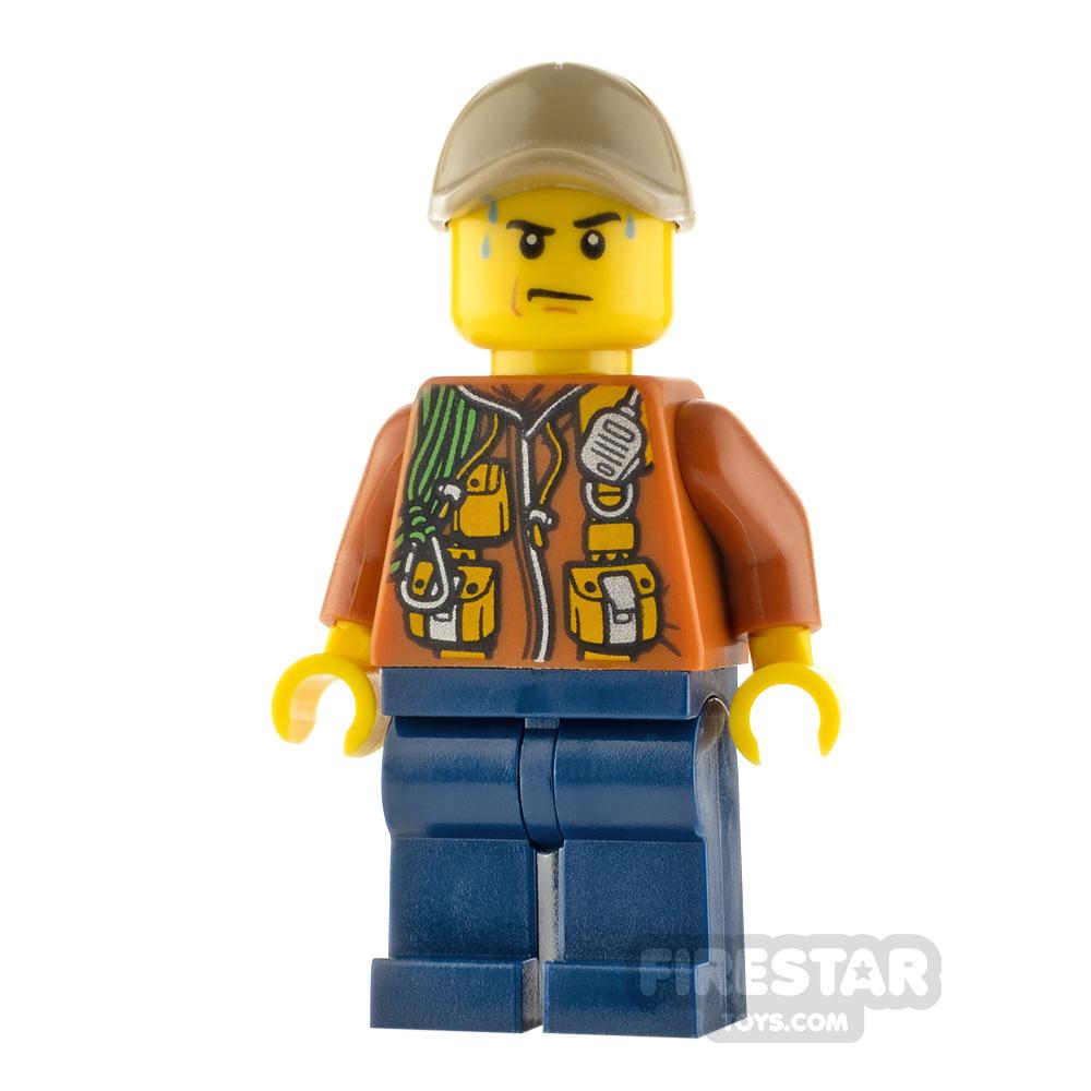 LEGO City Minifigure Jungle Explorer Orange Jacket with Pouches