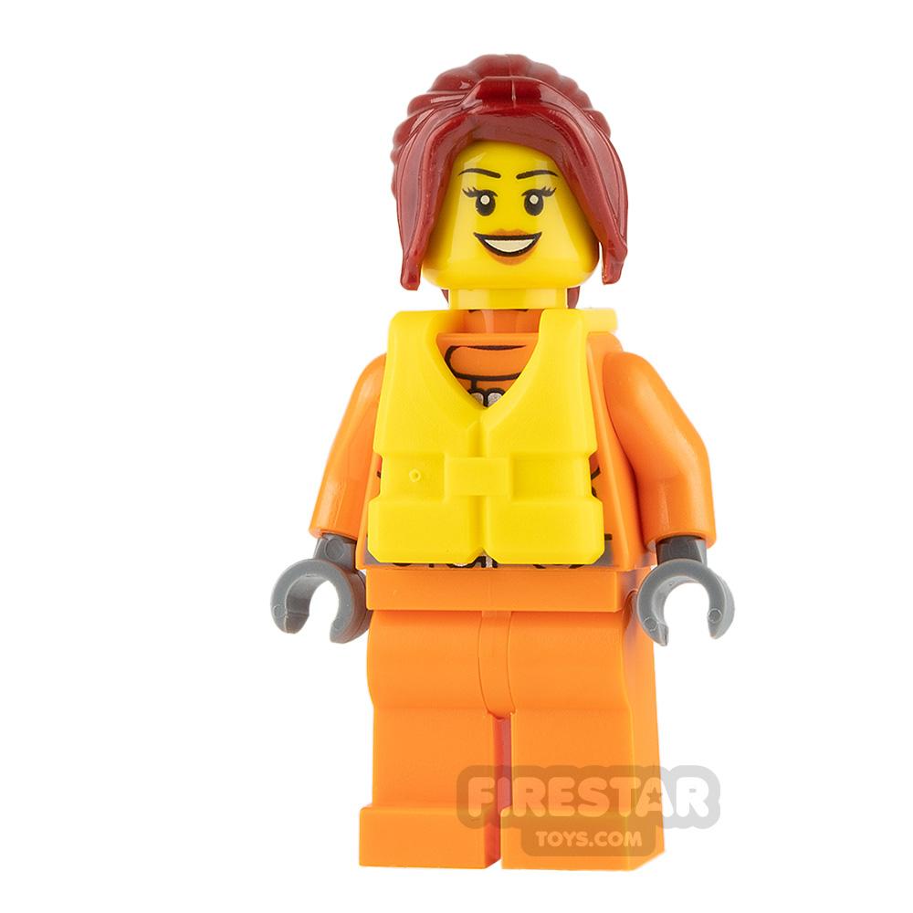 LEGO City Mini Figure - Coast Guard City - Female Watercraft Pilot