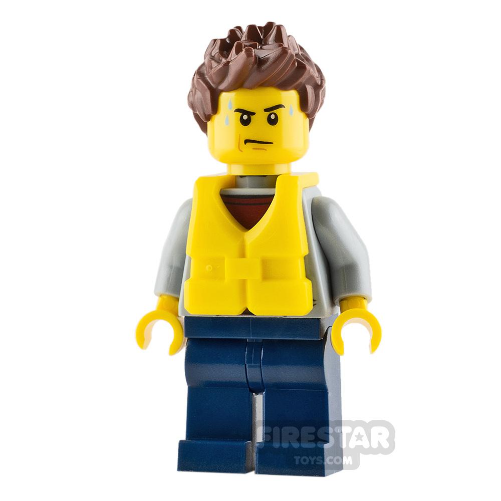 LEGO City Mini Figure - City Coast Guard - Kayak Passenger