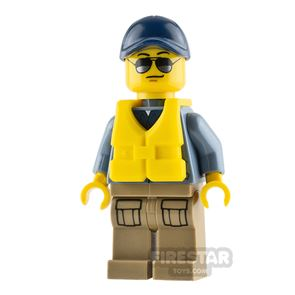 LEGO City Mini Figure - Mountain Police - Officer Male with Life Jacket