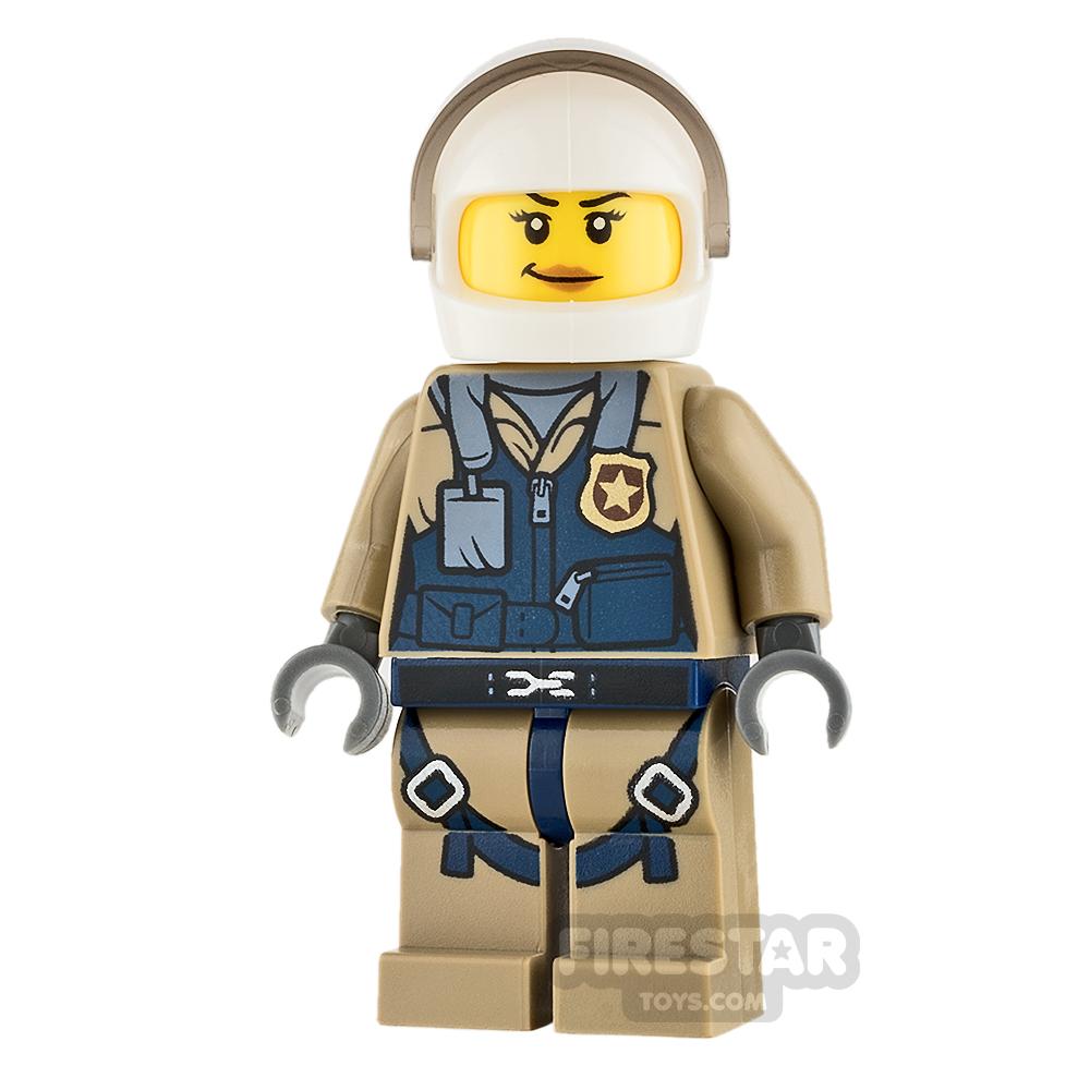 LEGO City Mini Figure - Mountain Police - Female Helicopter Pilot