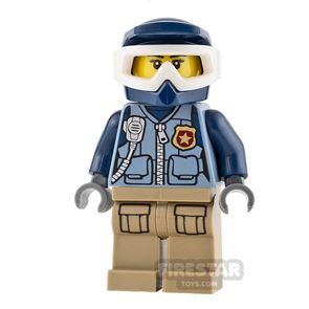 LEGO City Mini Figure - Mountain Police - Officer Female, Dirt Bike