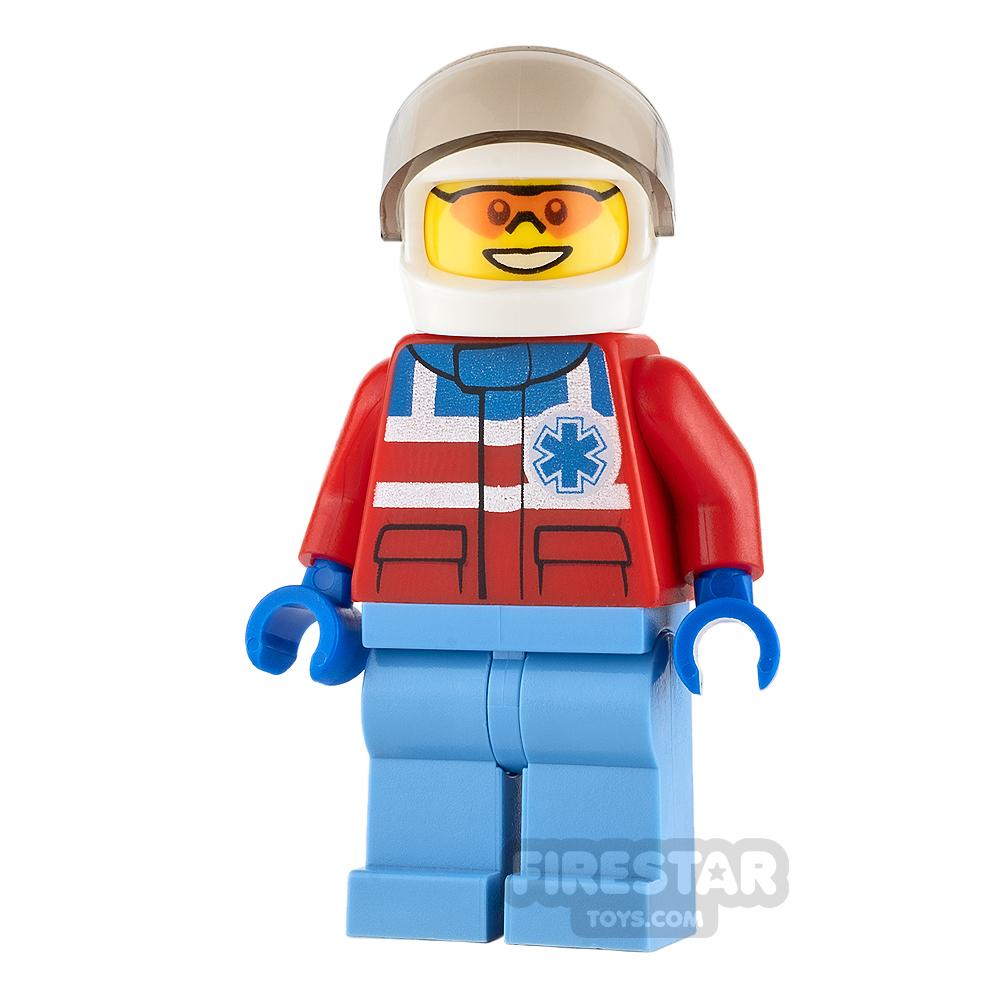 LEGO City Mini Figure - Paramedic - White Biker Helmet