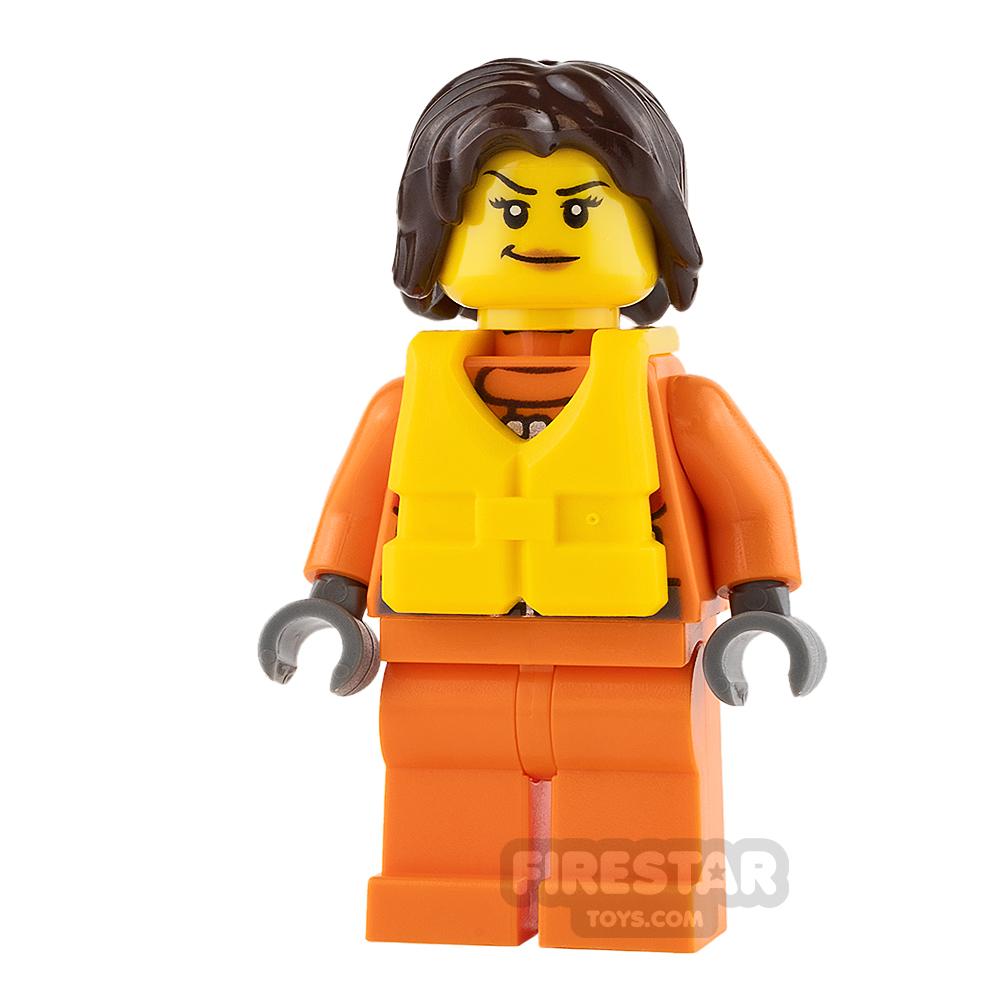 LEGO City Mini Figure - City Coast Guard - Female Rescuer