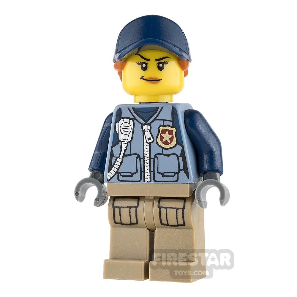 LEGO City Mini Figure - Mountain Police - Female Officer - Orange Ponytail