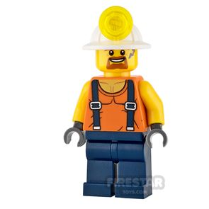 LEGO City Mini Figure - Miner - Shirt with Straps and Goatee