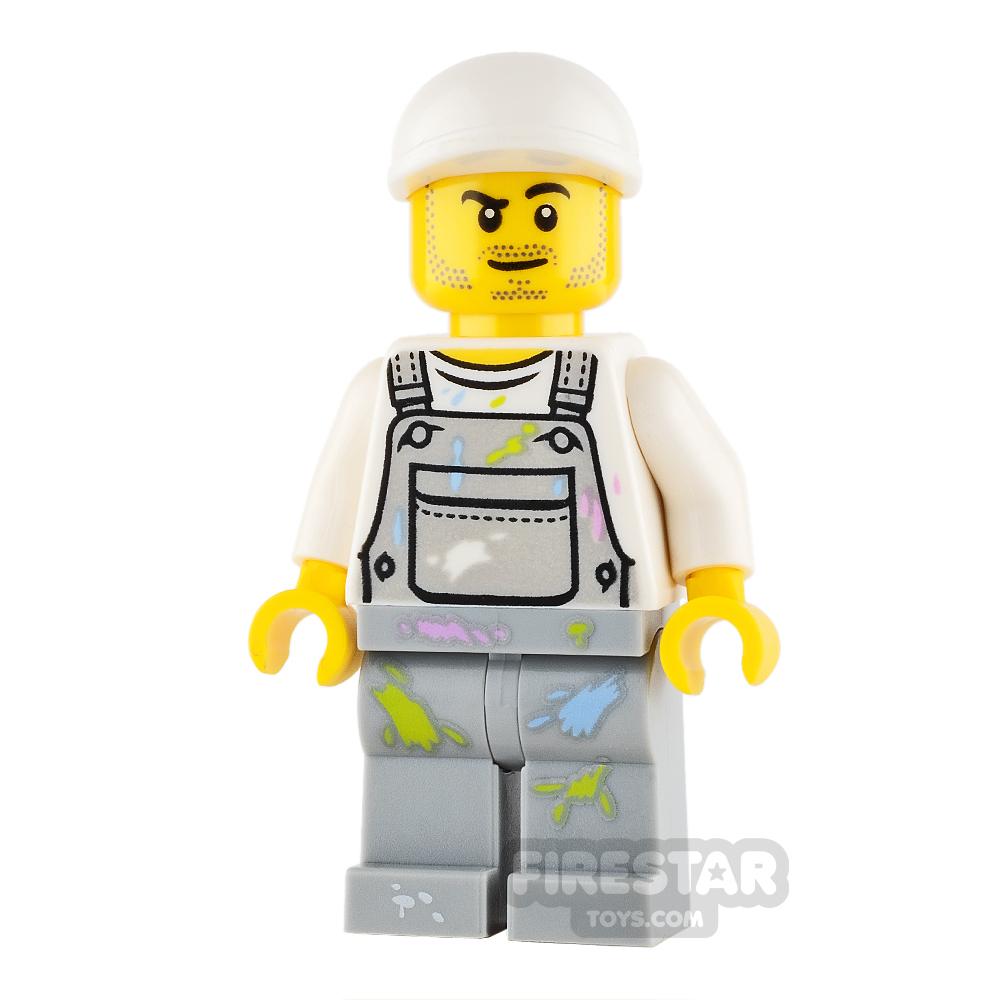 LEGO City Mini Figure - Fence Painter - Male