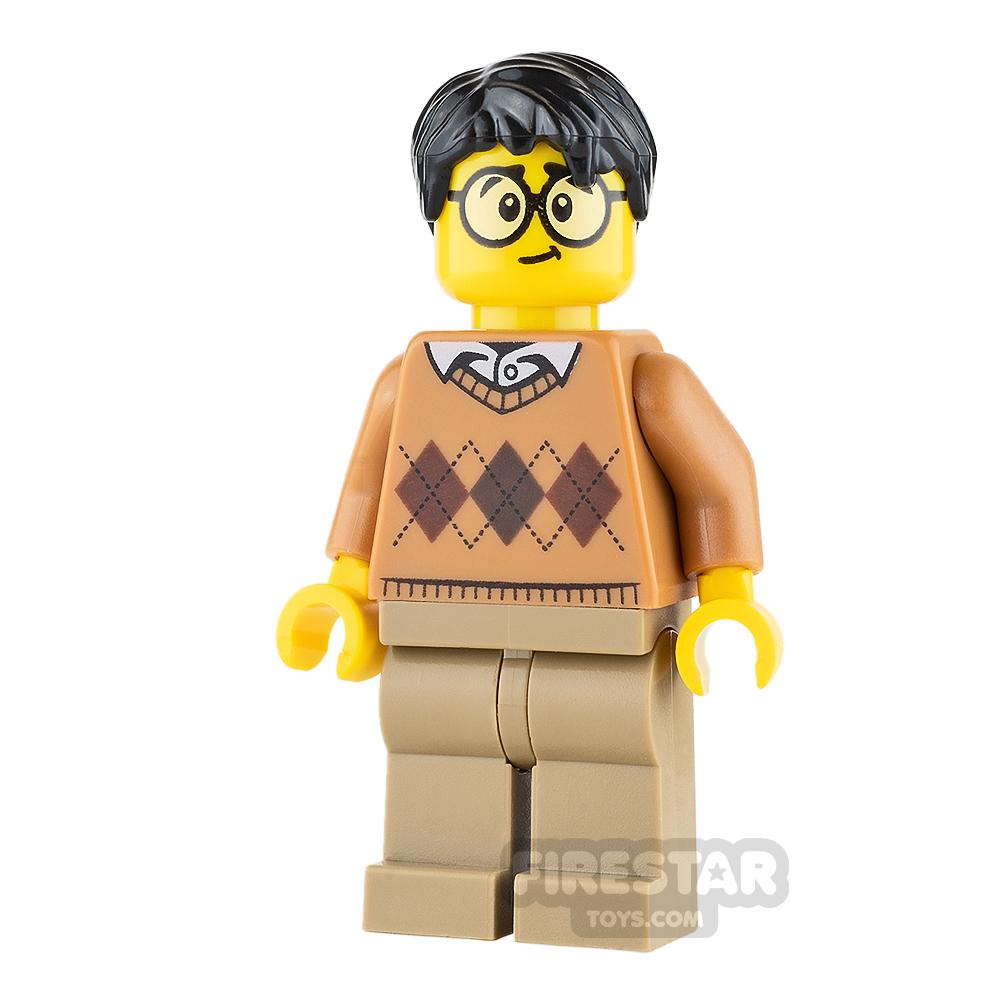 LEGO City Mini Figure - Argyle Sweater and Glasses