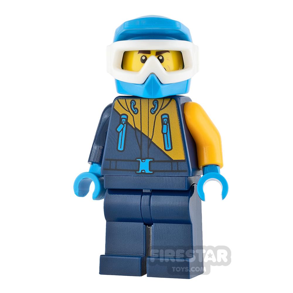 LEGO City Mini Figure - Arctic Explorer - Dark Blue and Orange Jacket