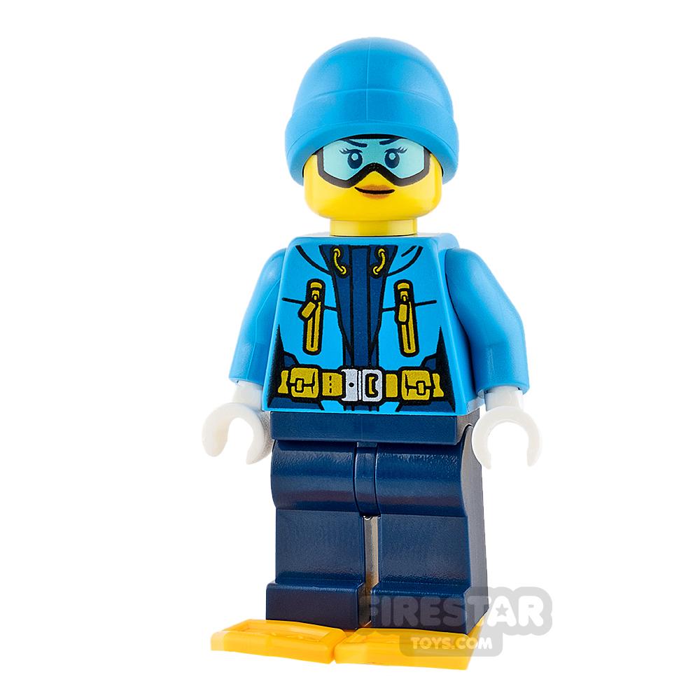 LEGO City Mini Figure - Arctic Explorer - Blue Goggles and Beanie