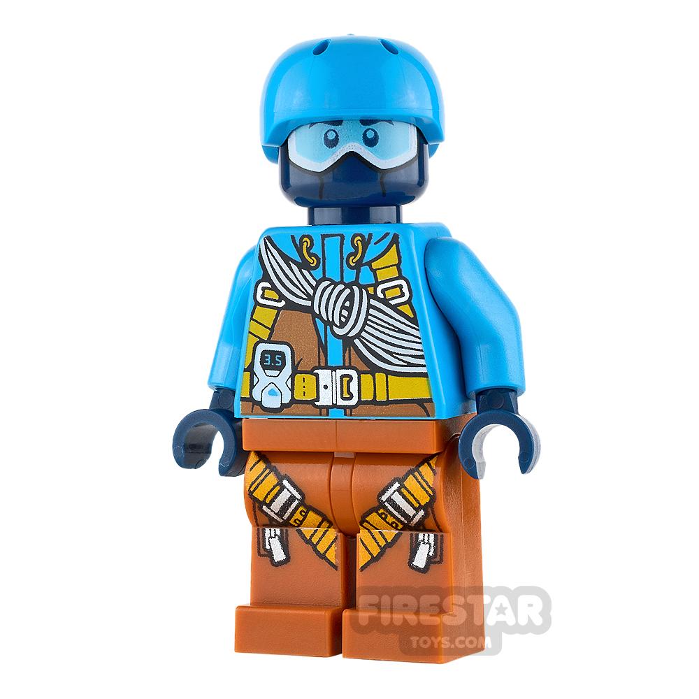 LEGO City Minifigure Dark Azure Helmet and Jacket