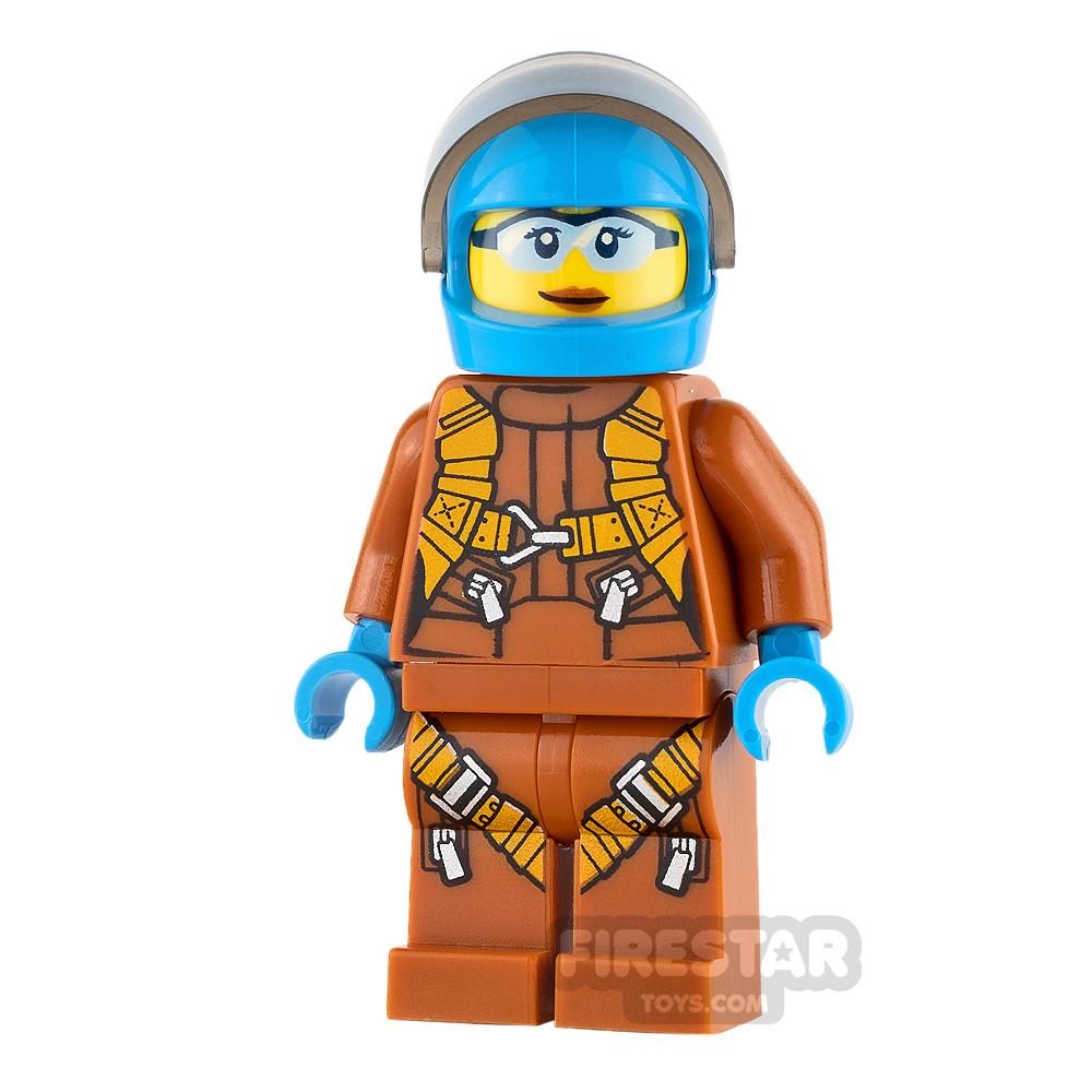 LEGO City Mini Figure - Arctic Explorer - Dark Azure Biker Helmet
