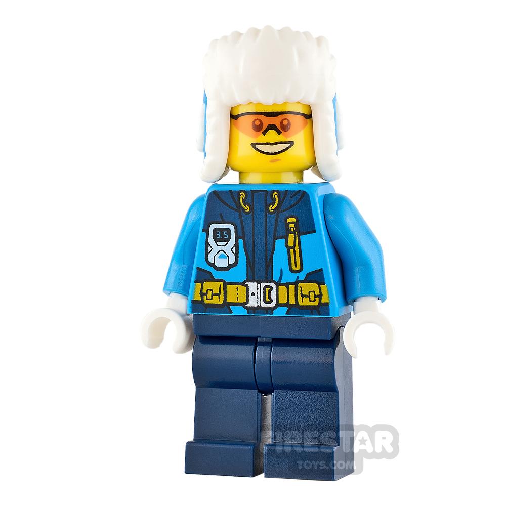 LEGO City Mini Figure - Arctic Explorer - Orange Goggles and Fur Hat