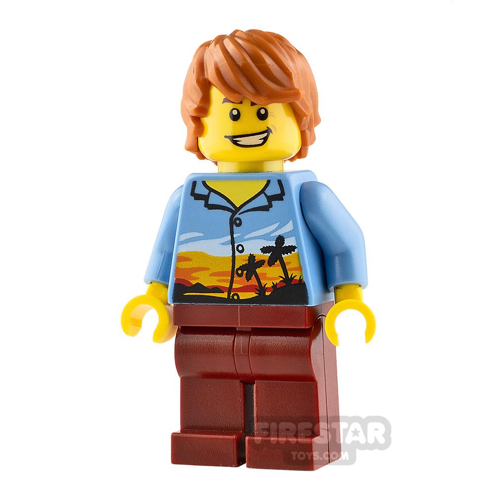 LEGO City Minifigure Plane Passenger Hawaiian Shirt