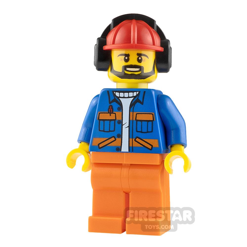 LEGO City Minifigure Airport Flagman Helmet with Earmuffs