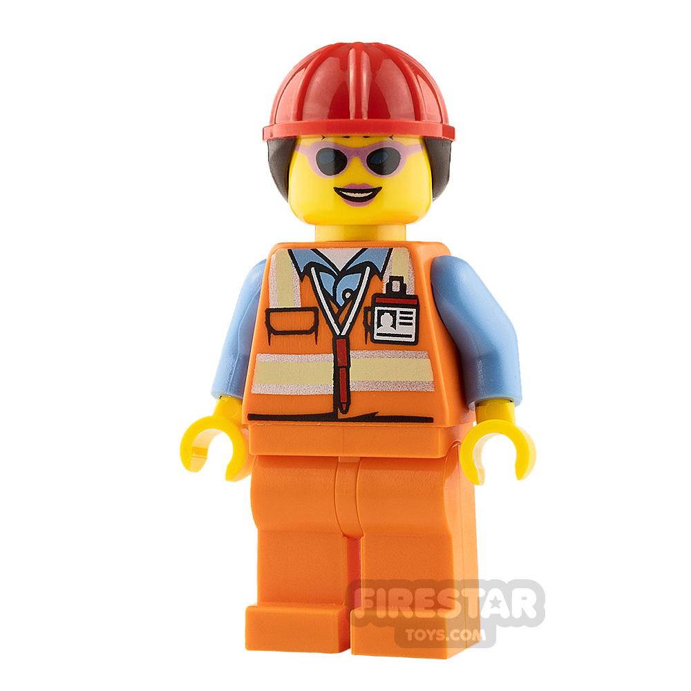 LEGO City Minifigure Airport Luggage Handler with Helmet